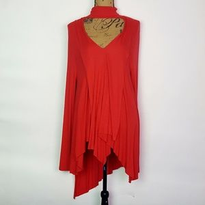 Free People Red Turtle Neck Tunic